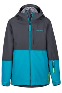Boy's Panorama Jacket, Slate Grey/Enamel Blue, medium