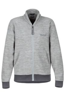 Boy's Couloir Fleece Jacket, Grey Storm/Slate Grey, medium