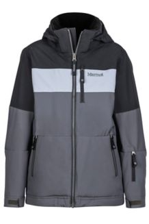 Boy's Headwall Jacket, Slate Grey/Black, medium