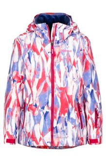 Girl's Big Sky Jacket, Bright Ruby Wisteria, medium