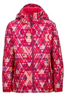Girl's Big Sky Jacket, Pink Lotus Geo, medium