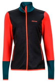 Wm's Thirona Jacket, Black/Neon Coral, medium