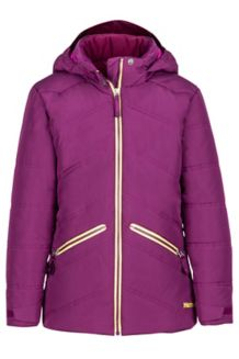 Girl's Val D'Sere Jacket, Deep Plum, medium