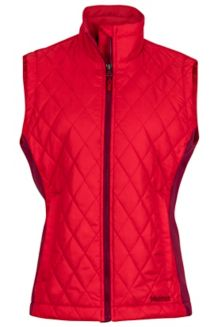 Wm's Kitzbuhel Vest, Tomato/Red Dahlia, medium