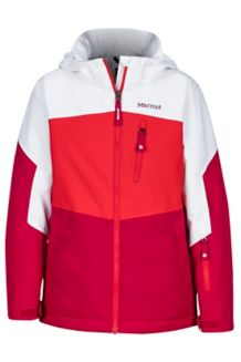 Girl's Elise Jacket, Bright Ruby/White, medium