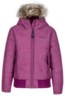 Girl's Williamsburg Jacket, Deep Plum, medium