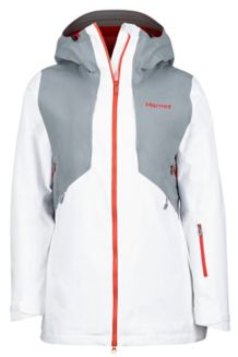 Wm's Powderline Jacket, White/Grey Storm, medium