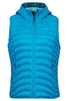 Wm's Bronco Hooded Vest, Oceanic, medium