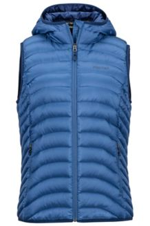 Wm's Bronco Hooded Vest, Sailor, medium