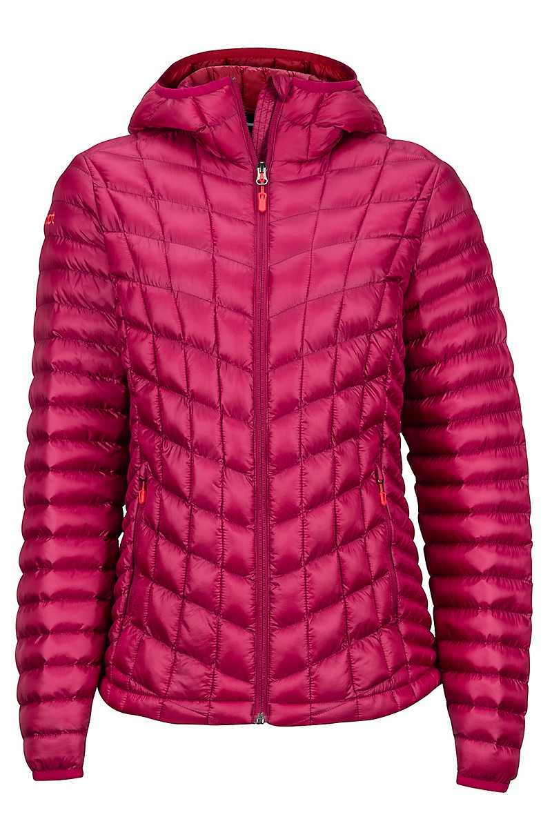 Wm's Marmot Featherless Hoody, Red Dahlia, large