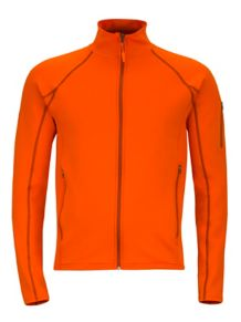Stretch Fleece Jacket, Sunset Orange, medium