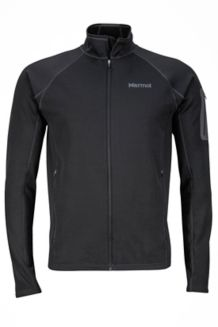 Stretch Fleece Jacket, Black, medium