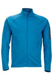 Stretch Fleece Jacket, Slate Blue, medium