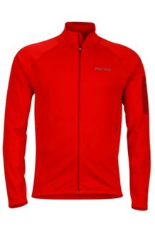 Stretch Fleece Jacket, Team Red, medium
