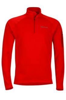 Stretch Fleece 1/2 Zip, Team Red, medium