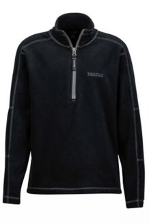 Boy's Rocklin 1/2 Zip, Black, medium