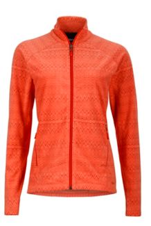 Wm's Rocklin Full Zip Jacket, Living Coral Alps, medium