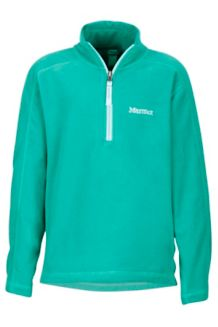 Girl's Rocklin 1/2 Zip, Turf Green, medium