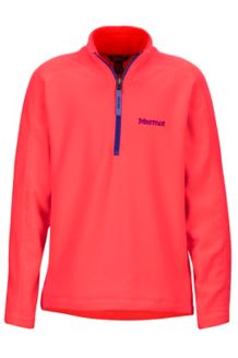 Girl's Rocklin 1/2 Zip, Bright Pink, medium