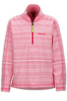 Girl's Rocklin 1/2 Zip, Pink Rock Alps, medium