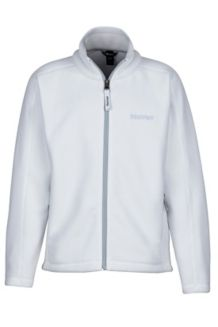 Girl's Lassen Fleece, White, medium