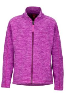 Girl's Lassen Fleece, Neon Berry, medium