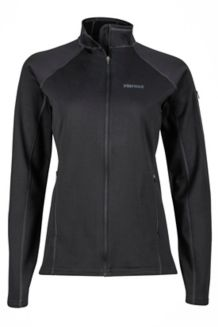 Wm's Stretch Fleece Jacket, Black, medium