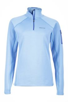 Wm's Stretch Fleece 1/2 Zip, Dewdrop, medium