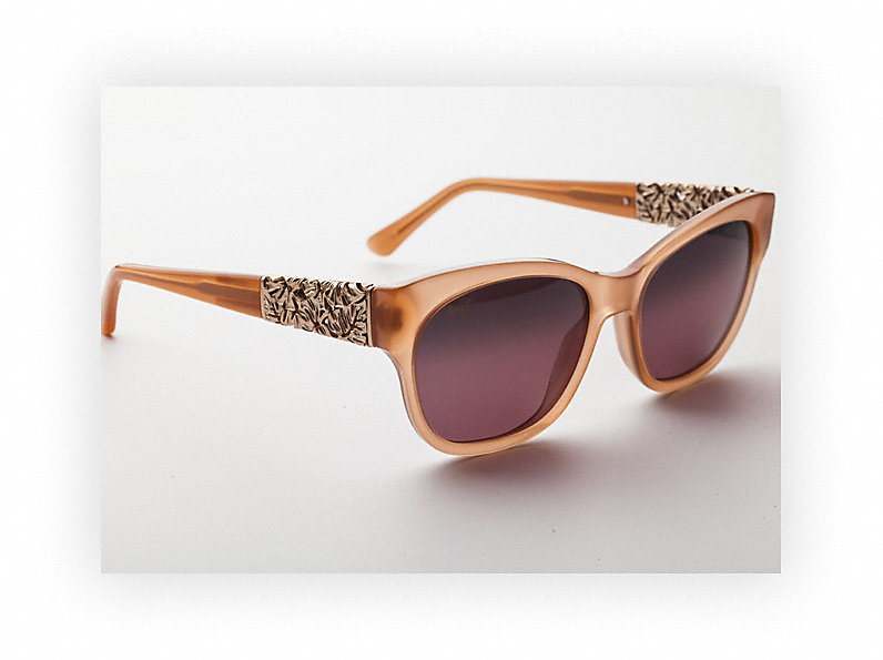 Monstera Leaf - Rose Gold Temples