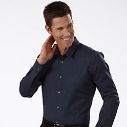Calvin Klein Fitted Men's Pinstripe Dress Shirt