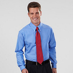 Van Heusen Men's Silky Poplin Long Sleeve