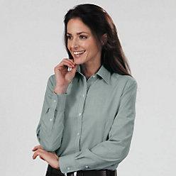 Van Heusen Ladies' End on End Long Sleeve Dress Shirt