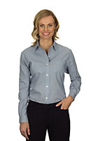 Van Heusen Ladies' Long Sleeve Feather Stripe With Contrast