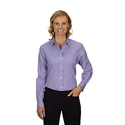 Van Heusen Ladies' Long Sleeve Feather Stripe With Contrast