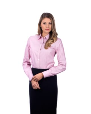 Image for Van Heusen Women's Regular Fit Long Sleeve Non Iron Feather Stripe from PVH Corporate Outfitters