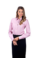 Van Heusen Women's Regular Fit Non Iron Feather Stripe