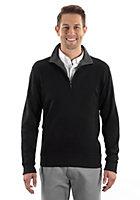 Van Heusen Men's Qtr Zip Knit Sweater - Long Sleeve