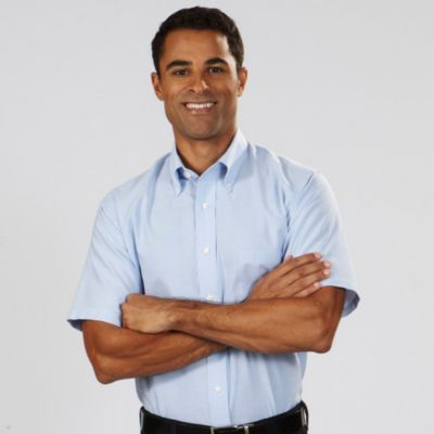 Image for Van Heusen Men's Regular Fit Short Sleeve Oxford from PVH Corporate Outfitters