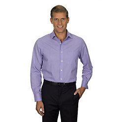 Van Heusen Men's Long Sleeve Feather Stripe With Contrast