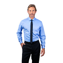 Van Heusen Men's Regular Fit Long Sleeve Flex Collar Twill