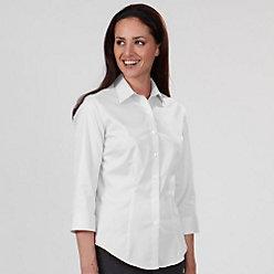Van Heusen Women's Regular Fit 3/4 Sleeve Twill