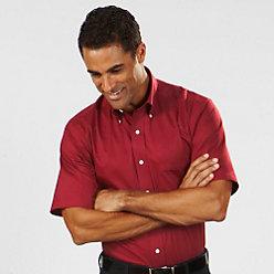 Van Heusen Men's Regular Fit Short Sleeve Twill