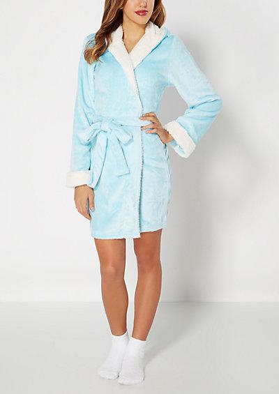 image of Plush Light Blue Robe