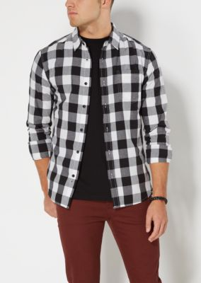 White And Black Checkered Shirt