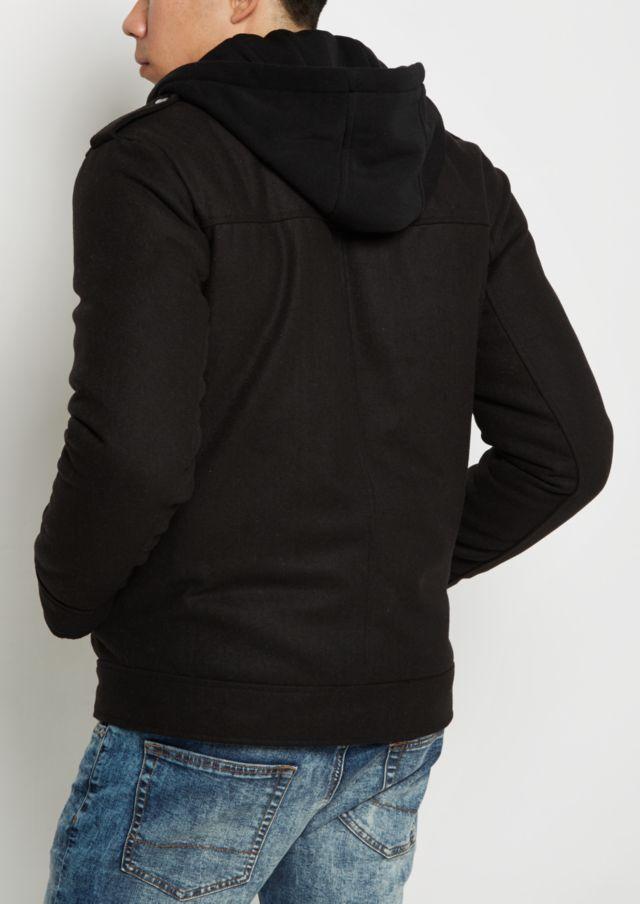 Black Wool Military Coat   Jackets & Coats   rue21