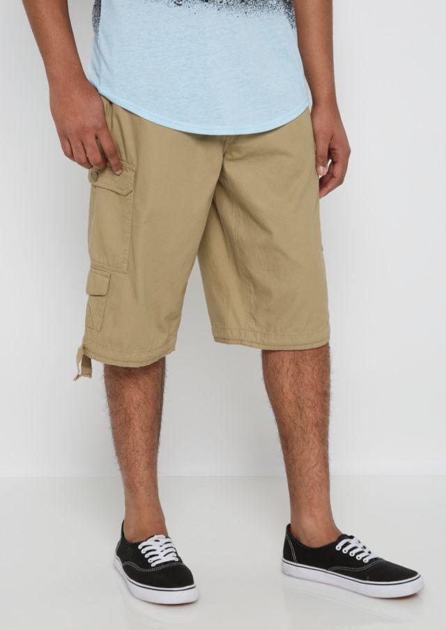 Khaki Belted Long Length Cargo Short | Cargo Shorts | rue21