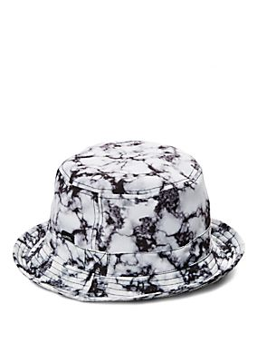 Bucket Hats Black And White Black White Marbled Bucket