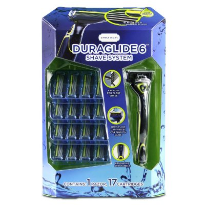 Simply Right Duraglide 6 Shave System (1 razor, 17 cartridges).  Ends: Feb 8, 2016 5:20:00 AM CST