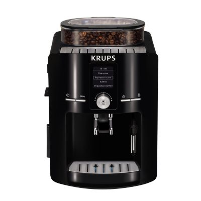 KRUPS EA80 Fully Automatic Espresso Machine with Built-in Conical Burr Grinder.  Ends: Apr 28, 2016 3:00:00 PM CDT