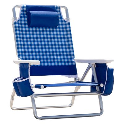Nautica Beach Chair, Blue/Green.  Ends: May 25, 2016 9:35:00 PM CDT